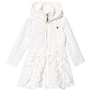 Le Chic Cream Dotted and Ruffled Coat Raincoats