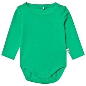 A Happy Brand Long Sleeve Baby Body Green 62/68 cm