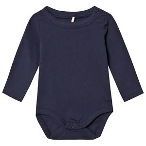 A Happy Brand Long Sleeve Baby Body Navy 86/92 cm