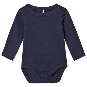 A Happy Brand Long Sleeve Baby Body Navy 62/68 cm