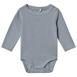 A Happy Brand Long Sleeve Baby Body Grey 74/80 cm