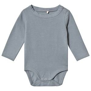 A Happy Brand Long Sleeve Baby Body Grey 50/56 cm