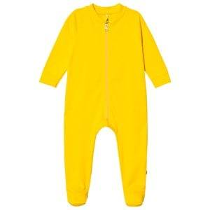 A Happy Brand Footed Baby Body Yellow 62/68 cm