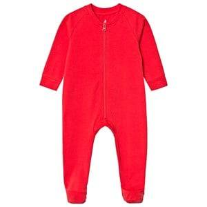 A Happy Brand Footed Baby Body Red 62/68 cm