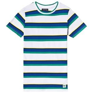 Mayoral Blue, Green and Yellow Multi Stripe Knit Tee 18 years