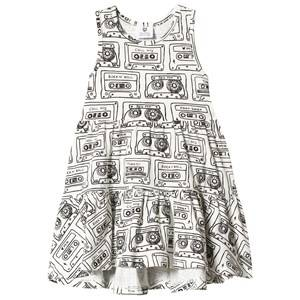 Image of Hootkid Cassette Print Tiered Dress 1 years