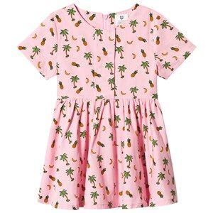 Image of Hootkid Pineapple Palm Tree Print Dress 2 years