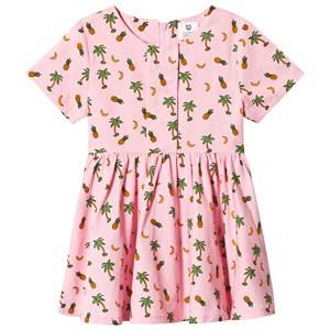 Image of Hootkid Pineapple Palm Tree Print Dress 1 years