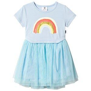 Hootkid Ice Blue Rainbow Tutu Dress 8 years