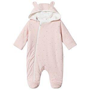 Mori Pink Stardust Footed Onesie 6-12 months
