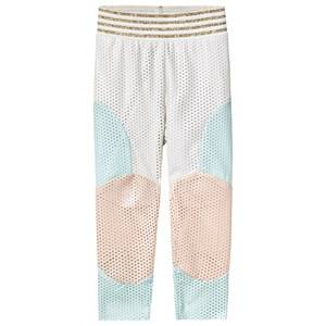 Image of Raspberry Plum White, Blue, Pink Patch Enna Leggings 3-4 years