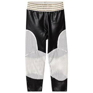 Image of Raspberry Plum Black and White Patch Enna Leggings 3-4 years