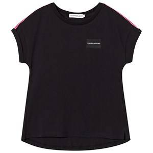 Image of Calvin Klein Jeans Black Logo Tape Tee 4 years