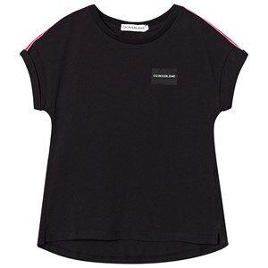 Image of Calvin Klein Jeans Black Logo Tape Tee 6 years