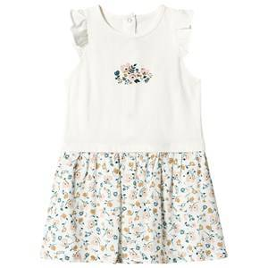 Image of Absorba White Floral Print Dress 3 months