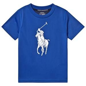 Ralph Lauren Blue Big Pony Tech Tee S (8 years)