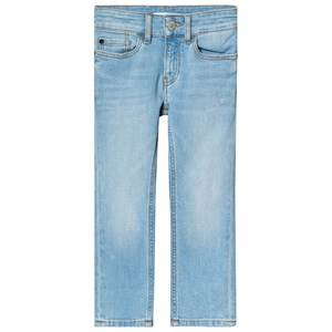 Image of Calvin Klein Jeans Light Wash Denim Stretch Slim Jeans 4 years