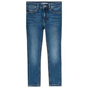 Image of Calvin Klein Jeans Blue Mid Wash Denim Skinny Jeans 14 years