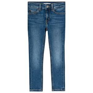 Image of Calvin Klein Jeans Blue Mid Wash Denim Skinny Jeans 14 years