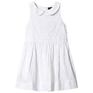 Image of Ralph Lauren White Floral Embroidered Dress 5 years
