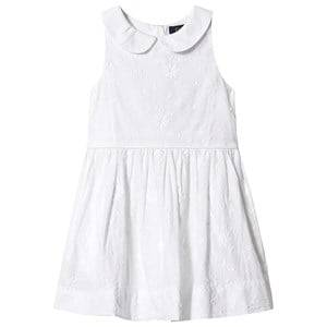 Image of Ralph Lauren White Floral Embroidered Dress 2 years