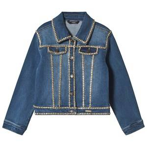 Image of Guess Blue Studded Denim Jacket 7 years