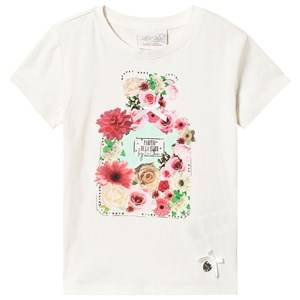 Le Chic Cream Flower Perfume Bottle Tee 104 (3-4 years)