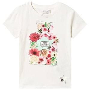 Le Chic Cream Flower Perfume Bottle Tee 104 (3-4 years)