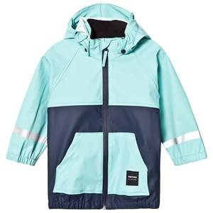 Tretorn Kids Hood Rain Jacket Turquoise Raincoats