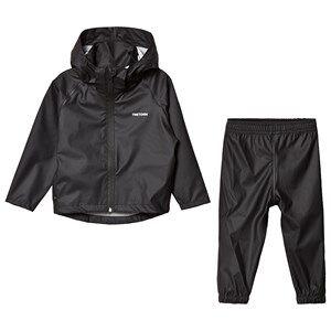 Tretorn Kids Packable Rain Set Black 110/116 cm