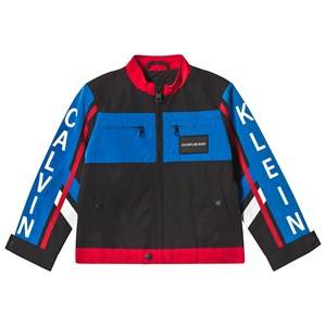 Image of Calvin Klein Jeans Black Color Block BMX Jacket 6 years