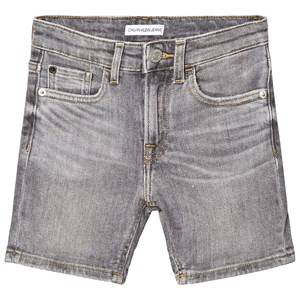 Image of Calvin Klein Jeans Grey Tapered Denim Shorts 4 years