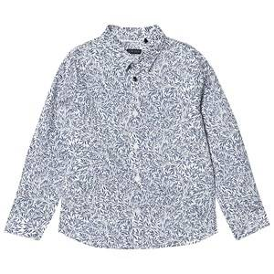 IKKS Blue All Over Leaf Print Button Shirt 6 years