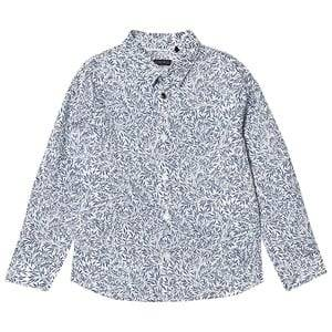 IKKS Blue All Over Leaf Print Button Shirt 4 years