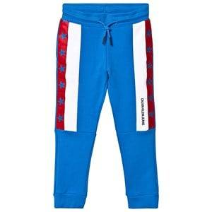 Image of Calvin Klein Jeans Blue Colour Block Stars Sweatpants 4 years