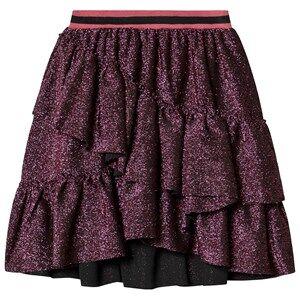 Petit by Sofie Schnoor Layered Skirt Pink Black Glitter 116 cm (5-6 Years)
