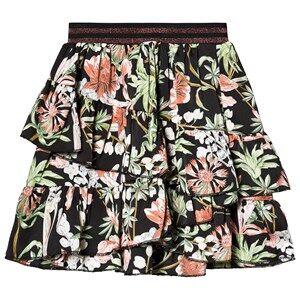 Petit by Sofie Schnoor Layered Flower Skirt Black 128 cm (7-8 Years)