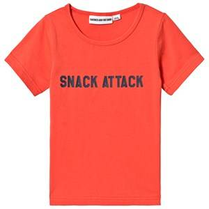 Gardner and the gang Snack Attack Tee Red Orange 3-4 Years
