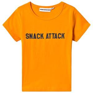 Gardner and the gang Snack Attack Tee Mustard 3-4 Years