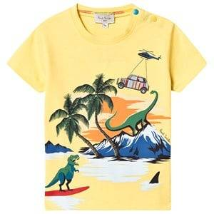 Paul Smith Junior Dino Island Print Tee Yellow 12 months