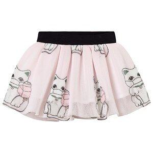 Caroline Bosmans Infusion Cat Skirt Pink 4 Years