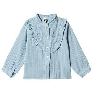 Bonton Embroidered Layered Shirt Forget Me Not 6 Years
