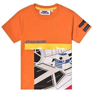 Fabric Flavours Star Wars R2D2 Tee Orange 5-6 years