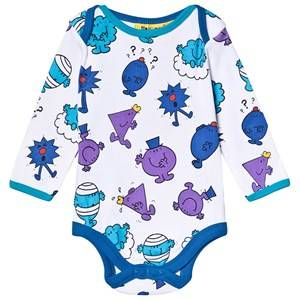 Fabric Flavours Mr. Men Print Baby Body Blue 6-12 months