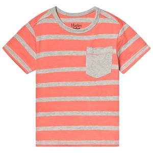 Hatley Coral Stripes Tee 7 years