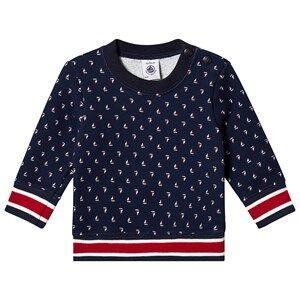 Petit Bateau Sweatshirt Had/Mu Navy 12 Months