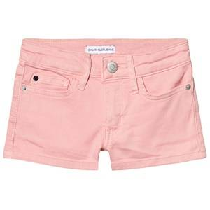 Image of Calvin Klein Jeans Denim Shorts Pale Pink 14 years