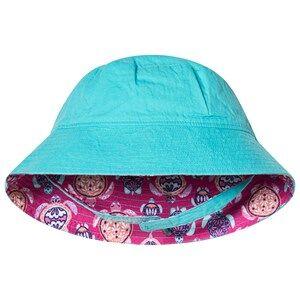 Hatley Pretty Sea Turtles Reversible Sun Hat Pink and Blue Sun hats