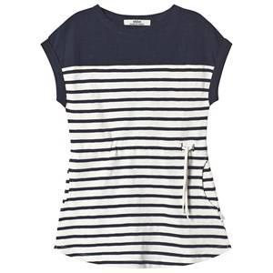 ebbe Kids Vita Tee Dress Off White/Dark Navy 122 cm (6-7 Years)
