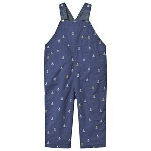 Frugi Little Tom Anchor Overalls Navy 3-4 years
